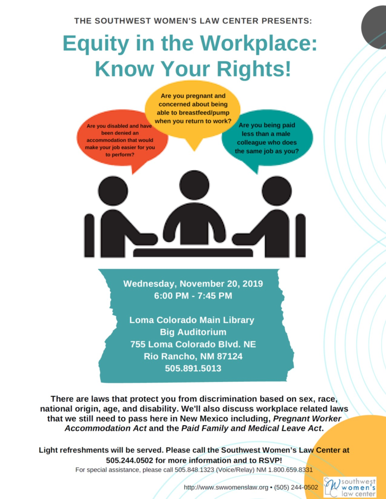 Equity in the Workplace:Know Your Rights