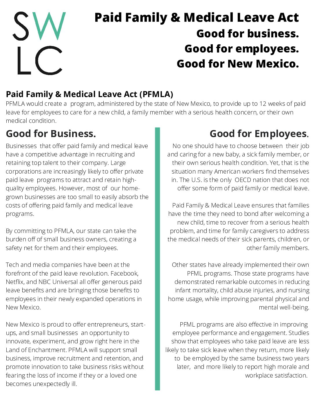2021 PFML Business 2-pager rev